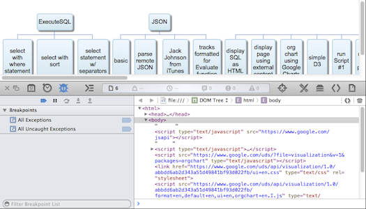 Safari debugger in Web View
