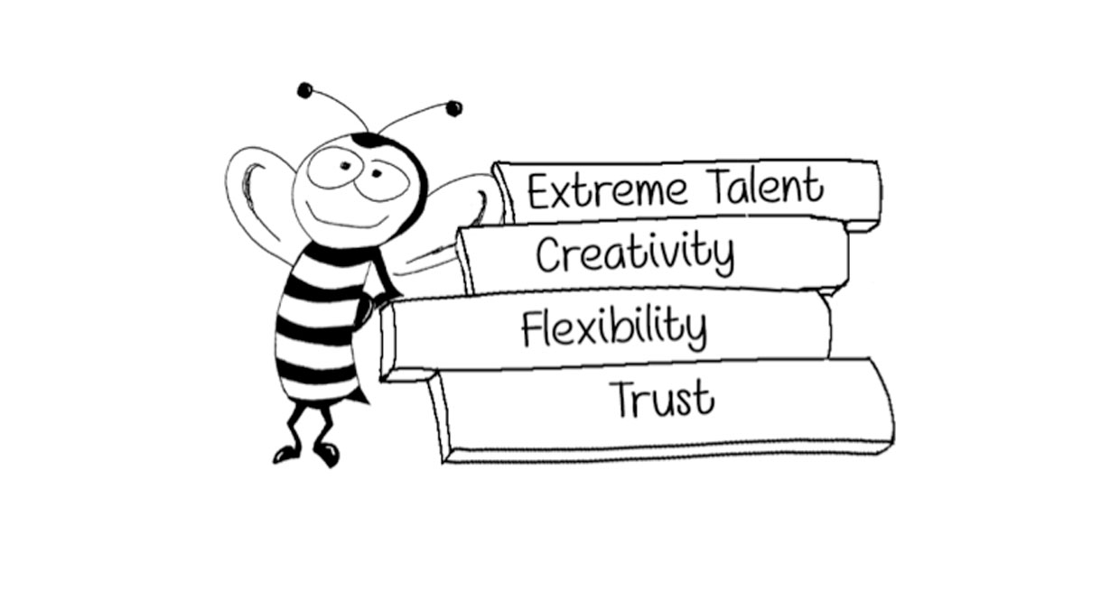 Extreme Talent on top of Creativity on top of Flexibility on top of Trust