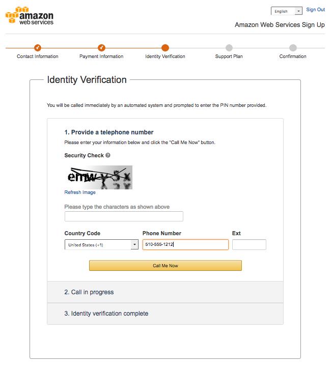 AWS Identity Verification