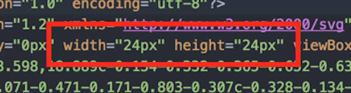 width and height set to 24 pixels