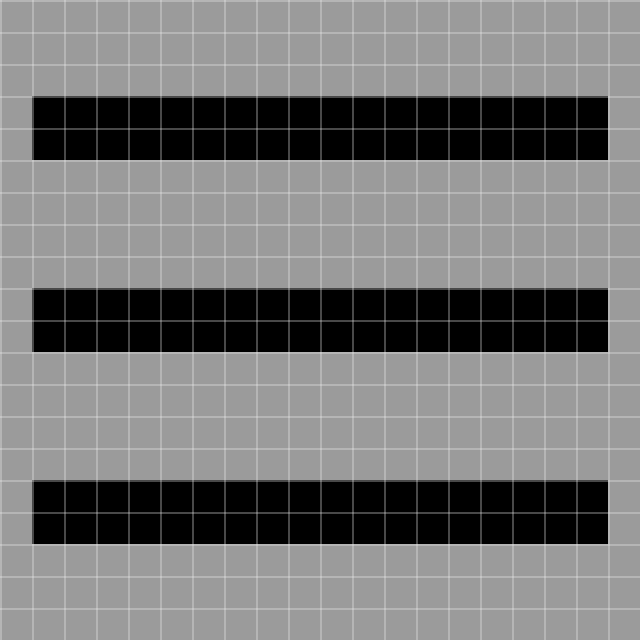 aligned to grid button bars