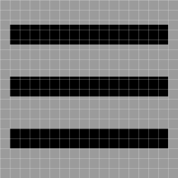 aligned button bars