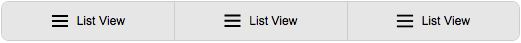 list view icons lined up in horizontal button bar
