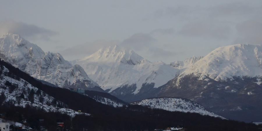high snowcapped mountains