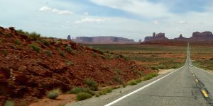 road route into the desert