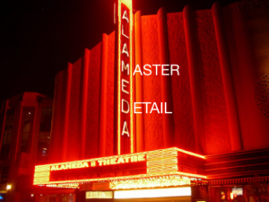 Master detail on a movie marquee