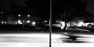 fast car blur in streetlight
