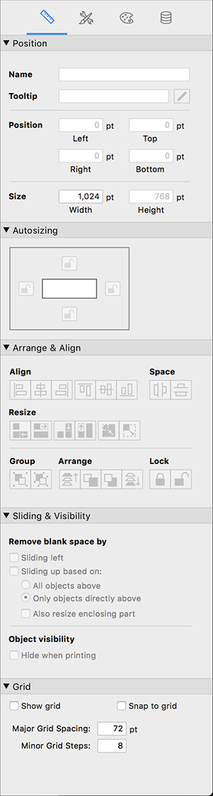 Layout - right palette