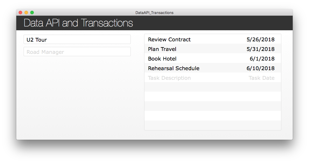 Data API and Transactions demo file