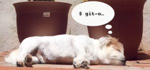 lazy dog dreams of git bash