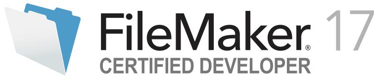 FileMaker 17 Certified Developer logo