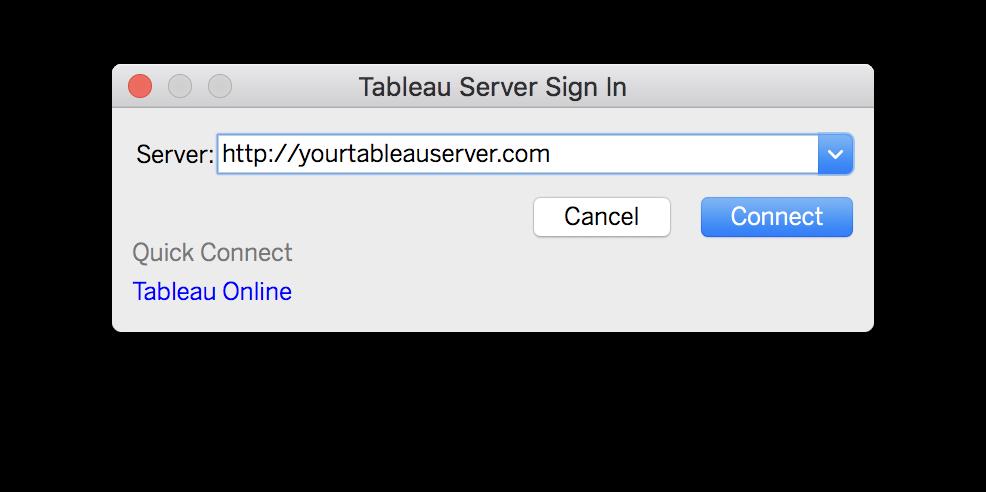 Tableau Server Sign in