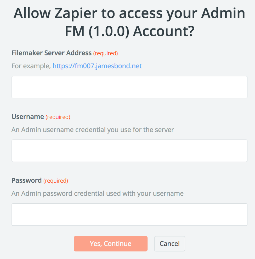 Allow Zapier to access Admin FM
