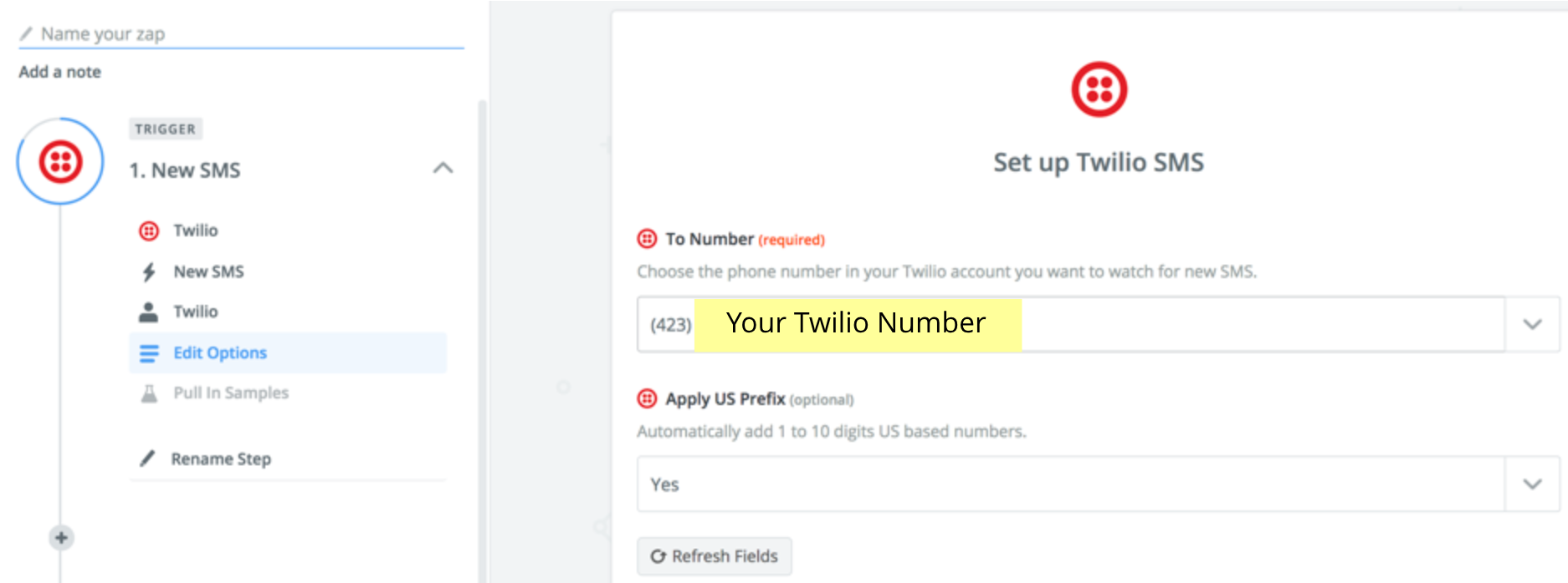 Set up Twilio SMS