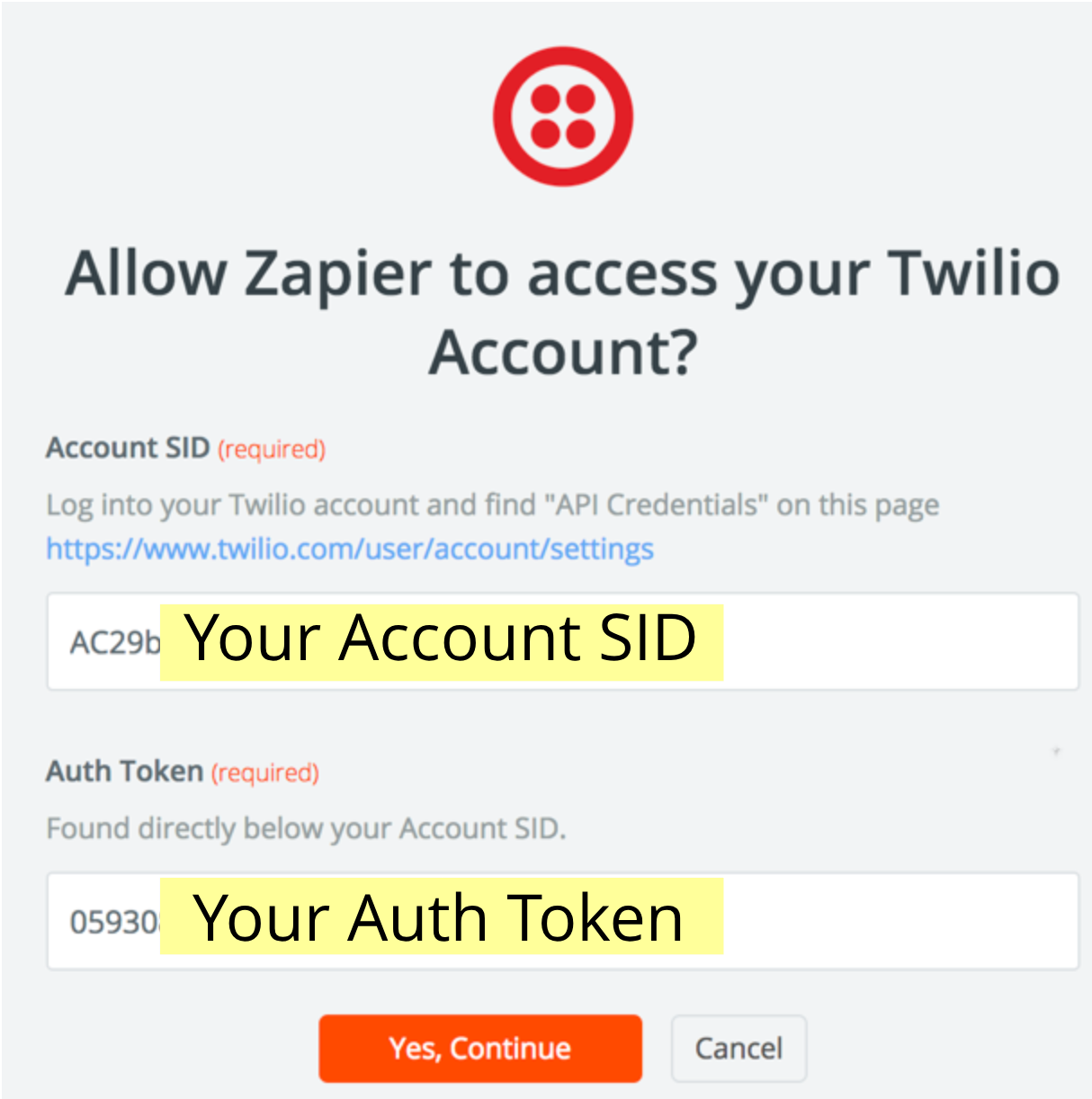 Twilio allow Zapier access