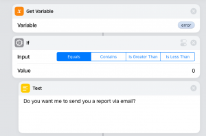 Do you want me to send you a report via email?