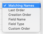 mapping Matching Names