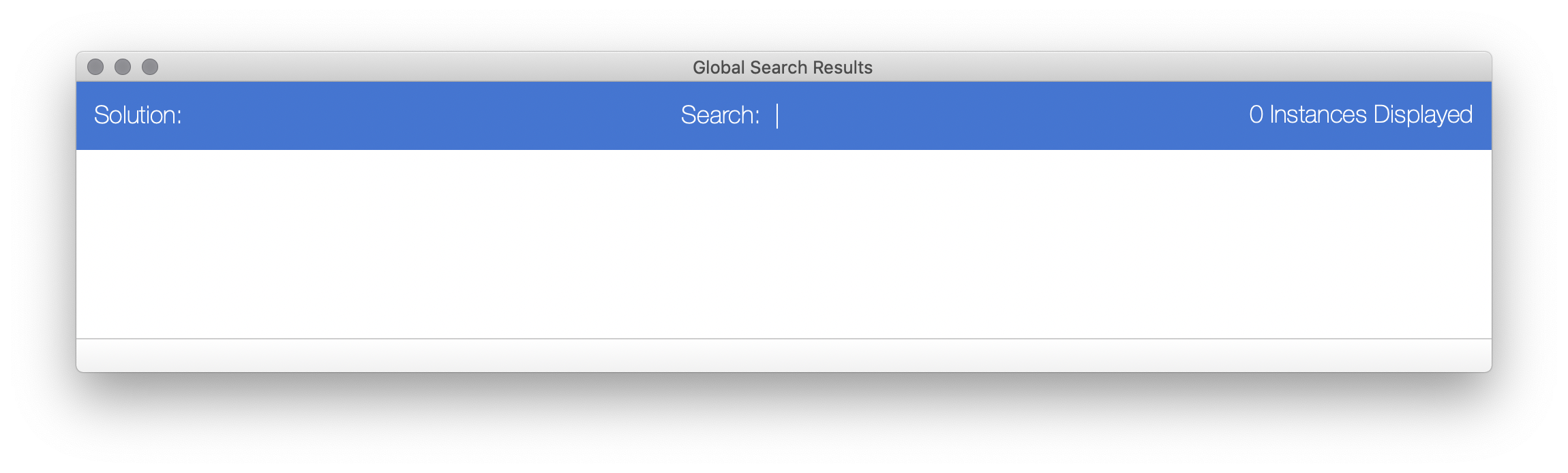 InspectorPro 7 Global Search Results
