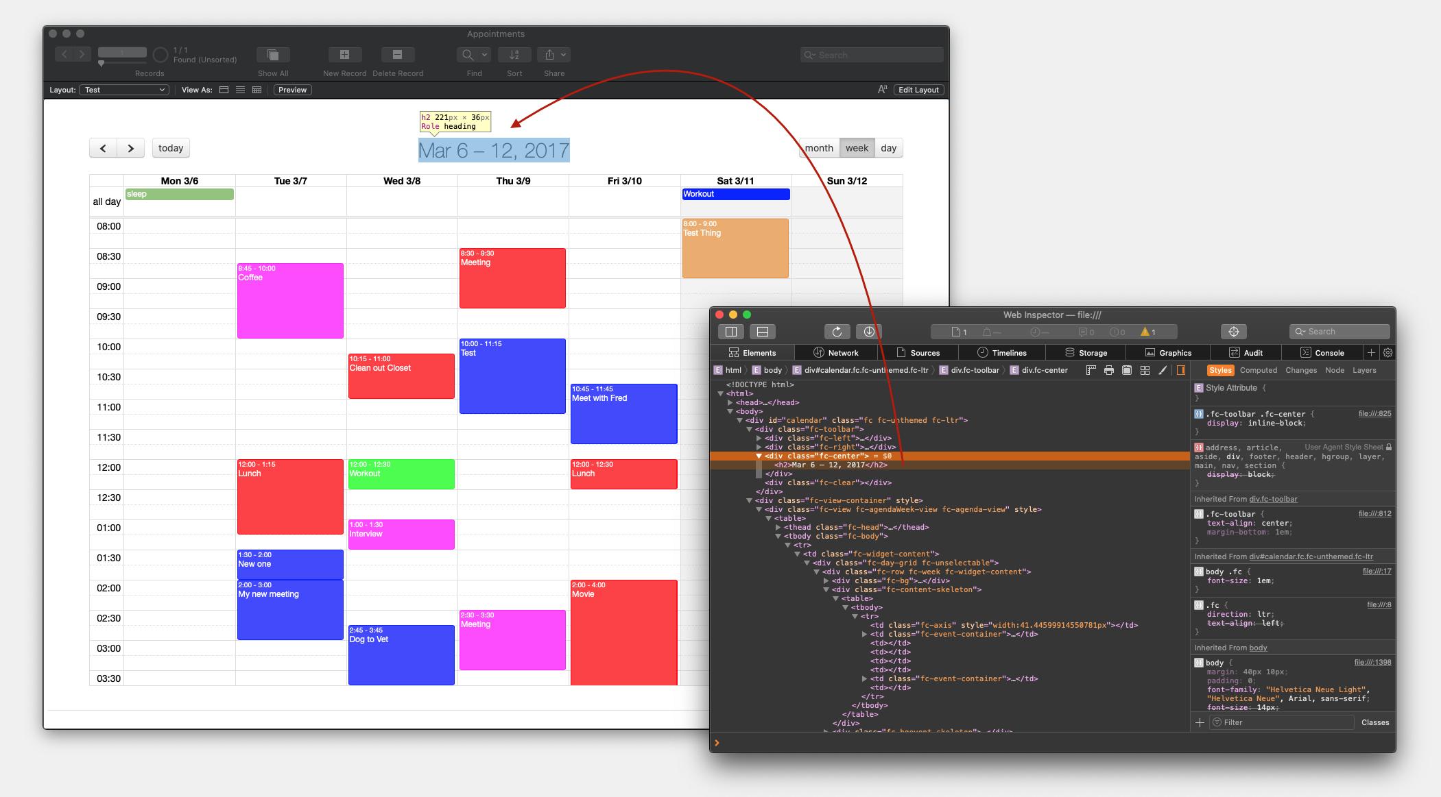 WebKit debugger with FileMaker Web Viewer