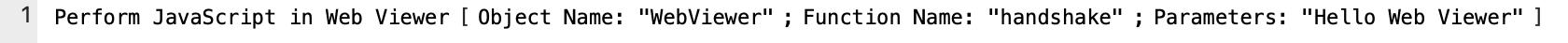 Perform JavaScript in Web Viewer script step example
